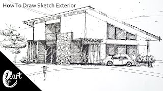 How To Draw sketch Exterior