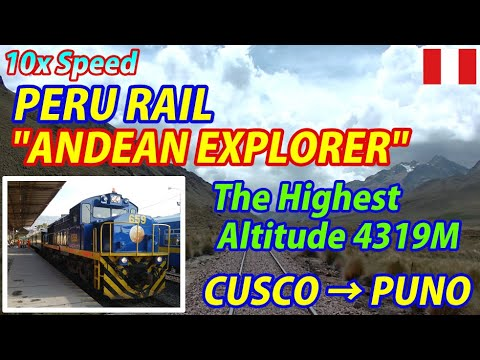 "10x PERU RAIL ""ANDEAN EXPLORER"" Cusco → Puno (Deck-Car Viewing)"