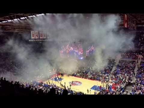 Opening of the Final Pistons game at the palace