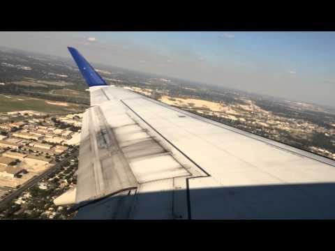 Takeoff from San Antonio International Airport on United Express