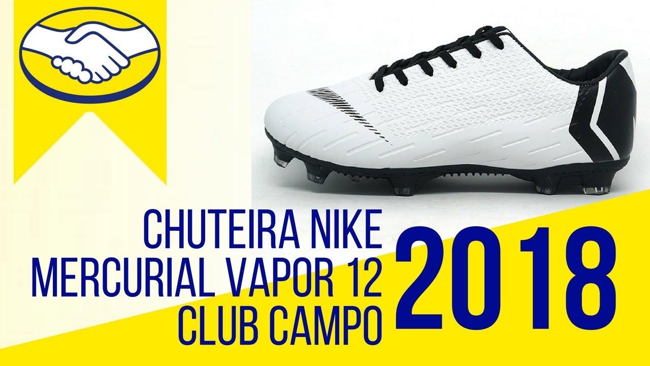 01b237a86d Os Melhores produtos ML - Chuteira Nike Mercurial Vapor 12 Club Campo