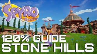 Spyro The Dragon (Reignited) 120% Guide STONE HILLS (ALL EGGS, GEMS, DRAGONS, SECRETS)