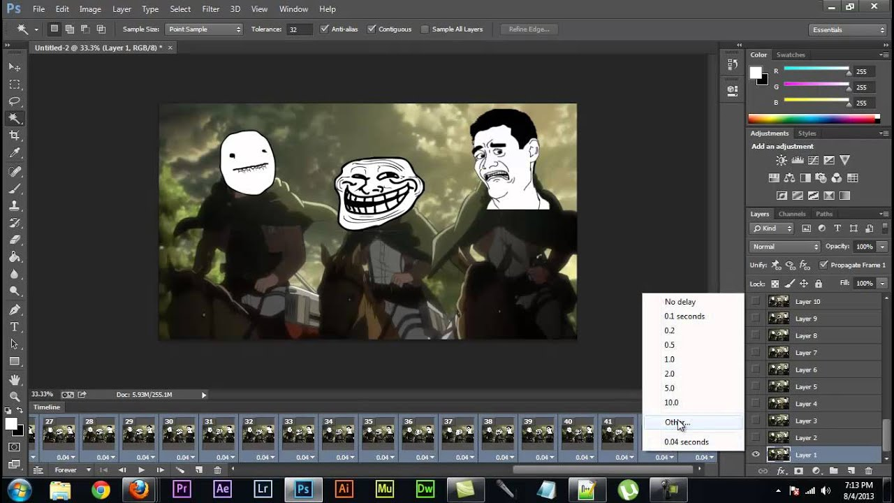 Adobe photoshop cs6/CC - how to make an animated gif - YouTube - photo#30