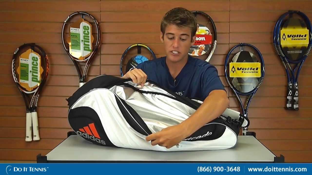 d912e4aa51c2 Adidas Tennis Bags Barricade Tour II 6 Pack - YouTube