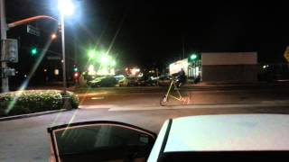 Bum doing wheelies on dangerous bike in esco @ midnight