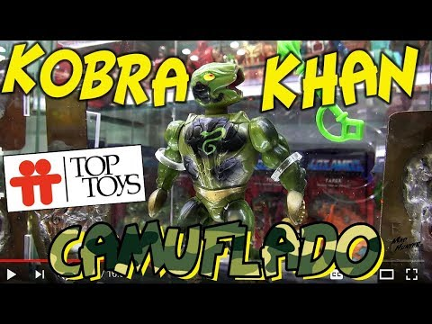 KOBRA KHAN CAMUFLADO TOP TOYS ARGENTINA HE-MAN MOTU MASTERS OF THE UNIVERSE PAINT MASKS