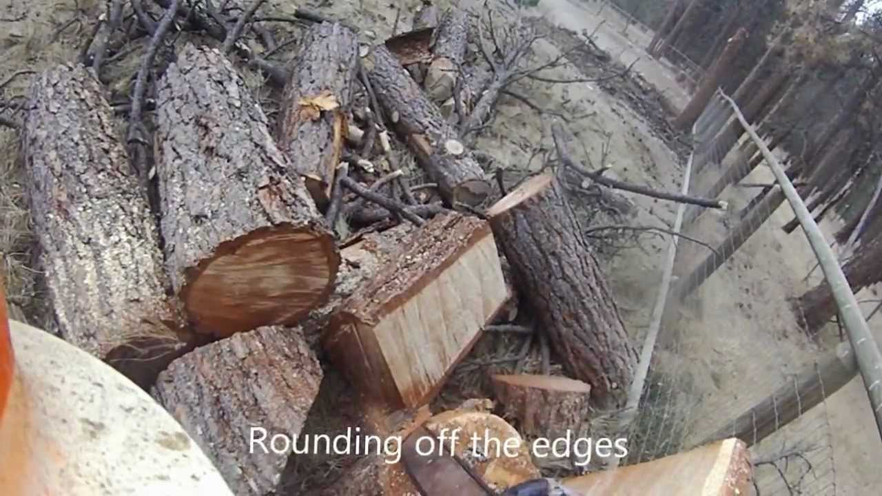 Carving A Chair From A Stump