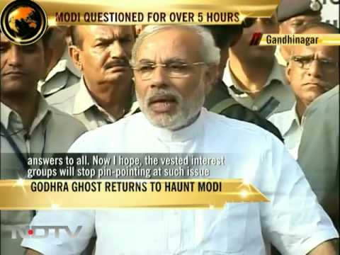 Modi answers on riots for the first time