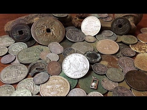 Metal Detecting Old Gold Mining Town Old Coins And Silver Found Part 2