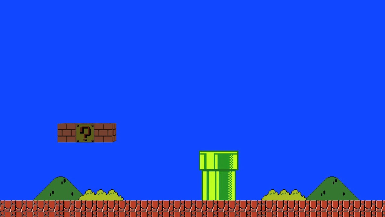 Super Mario Wallpaper Iphone 5 Super Mario Bros Blue Screen Animation Youtube