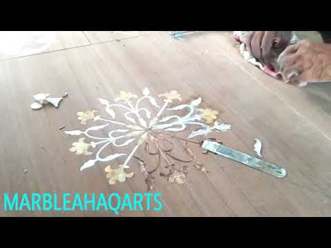 Mother Of Pearl Inlay Work On Wooden Door || Marble Inlay Flooring