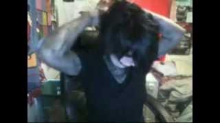 Andy Biersack halloween makeup & hair