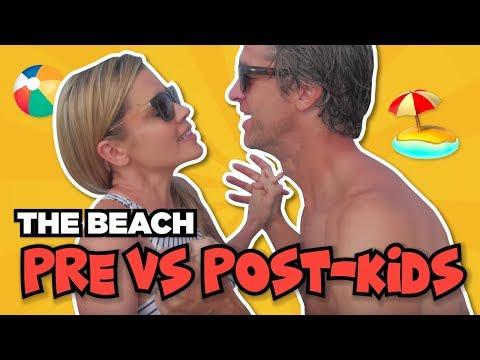The Beach: PRE-KIDS VS POST-KIDS // PLUS Kim wipes out in the ocean