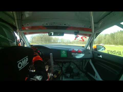 On-board video with STCC Andreas Ahlberg Golf TCR at Knutstorp May 2017.