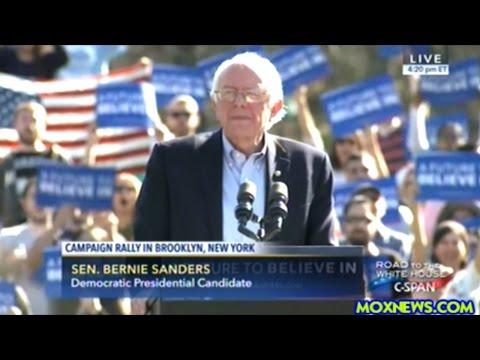 Bernie Sanders Rally Draws Massive Crowd To Prospect Park In New York!