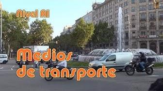 Medios de transporte. Nivel A1