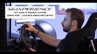 Indycar Driver James Hinchcliffe in SimXperience Stage 5