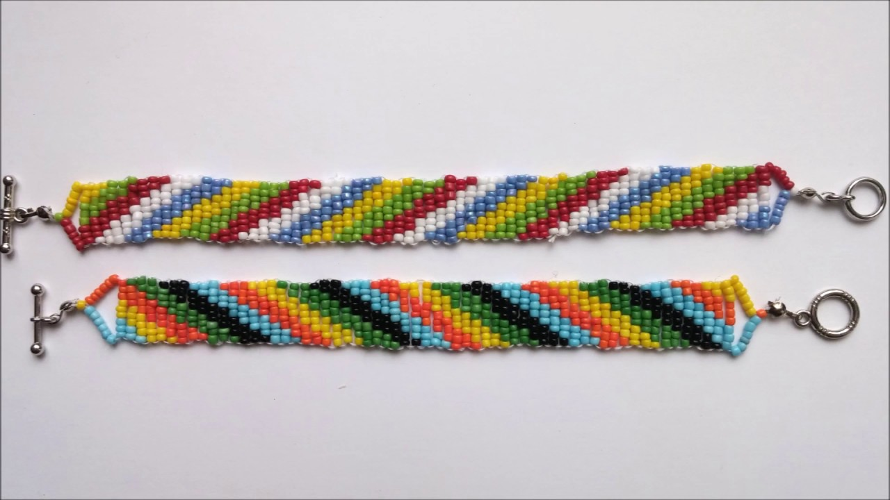 How To Make Colorful Seed Bead Bracelets Using 5 Diffe Colors Beginners Beading Project