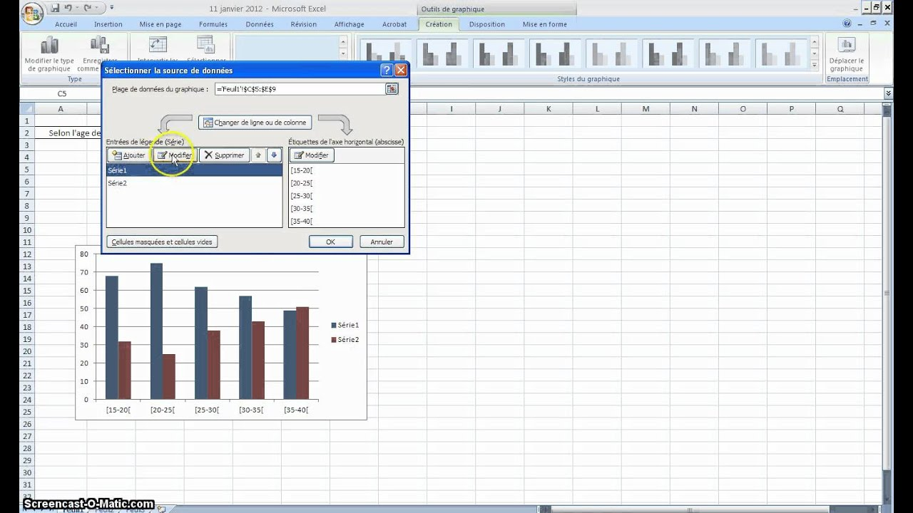 Comment faire un graphique sur excel youtube - Comment faire un diapo avec open office ...