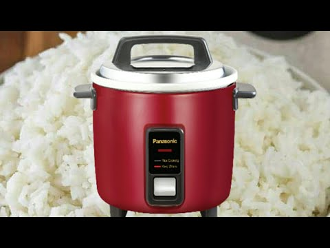How To Cook Rice In Panasonic SR-WA10 Ge9 Automatic Electric  Cooker (Burgundy)