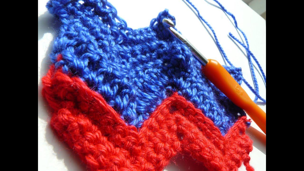 How To Add The Popcorn Stitch To The Chevron Zigzag Create Crochet