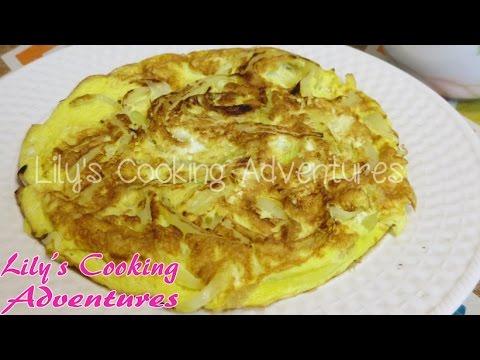 Fried Eggs with Onions -    trứng chiên hành tây - Trung Chien
