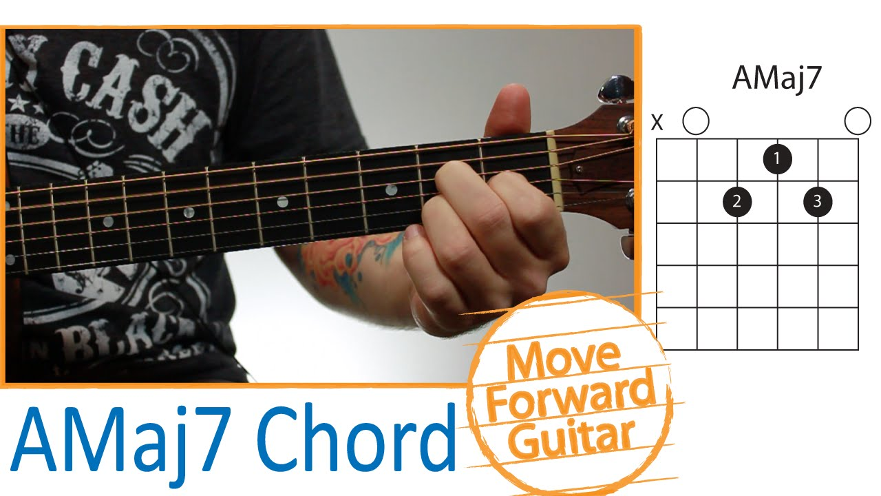 Guitar Chords For Beginners Amaj7 Youtube