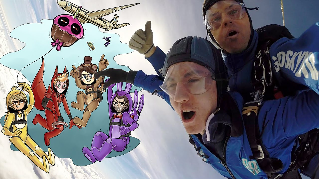 five nights at freddys skydive for st jude w dawko