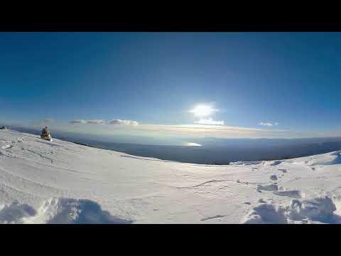 Bora wind, mountain Obruc in Croatia
