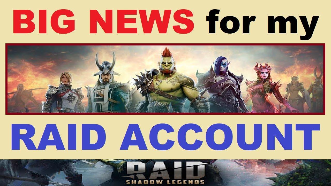 *BIG NEWS* for my RAID: Shadow Legends ~ACCOUNT~..