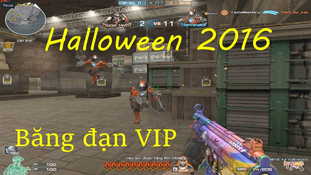 [ Bình Luận CF ] MP5K A4-Halloween - Tiền Zombie v4