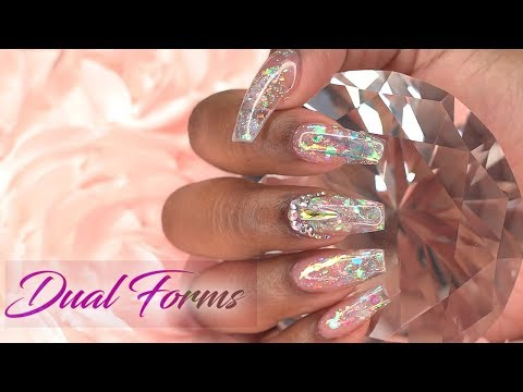 Acrylic Nails Tutorial - Acrylic Nails for Beginners - Dual Forms with Acrylic - How To Glass Nails