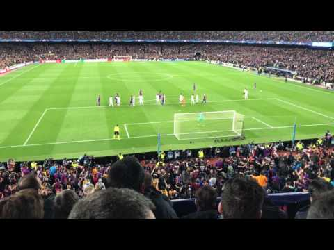 FC Barcelona - PSG winning goal from the stands 6-1! Sergi Roberto!