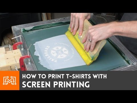 Screen print your own t shirts how to youtube for Screen print on t shirts