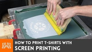 Screen Print your own t-shirts // How-To thumbnail
