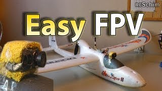 Multiplex Easystar 2 - most simple FPV plane - Setup, Tips, many flights, chase of other planes