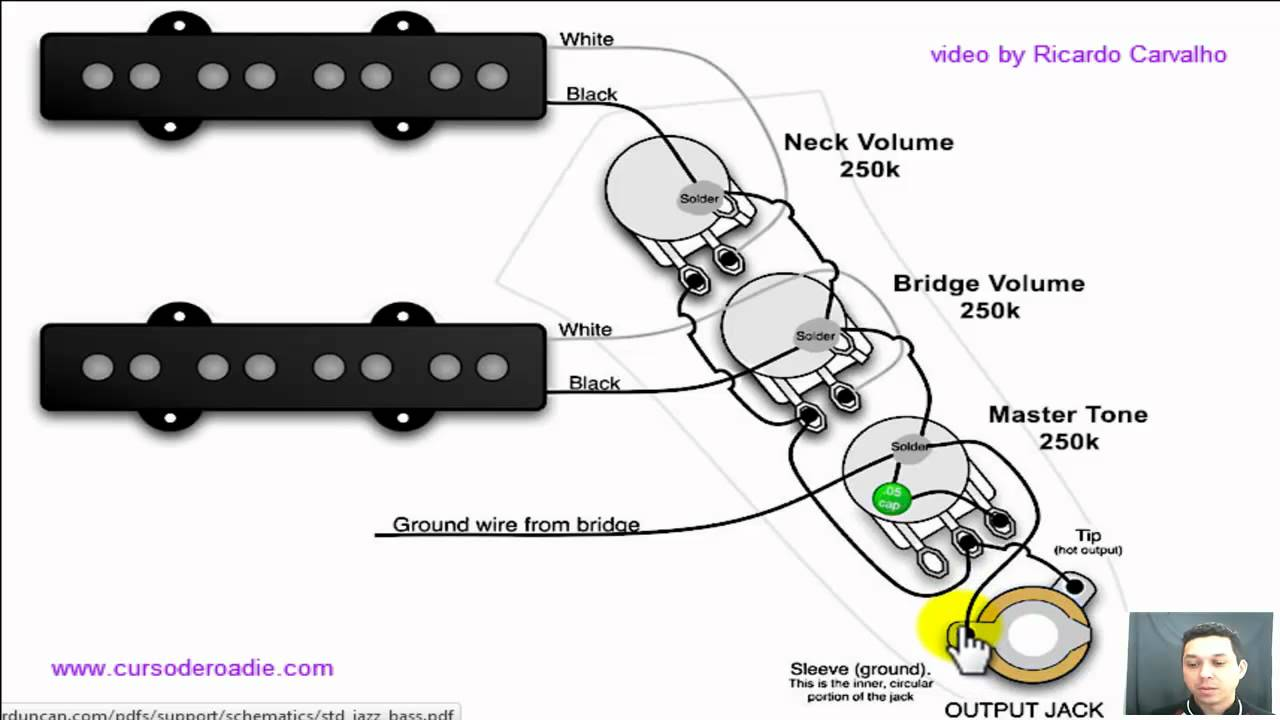 squier jazz bas wiring diagram [ 1280 x 720 Pixel ]