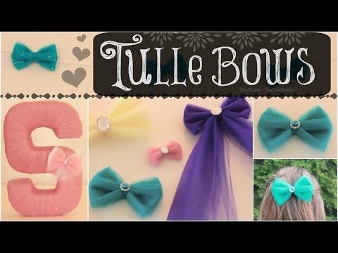 Diy Tulle Hair Bows Room Decor No