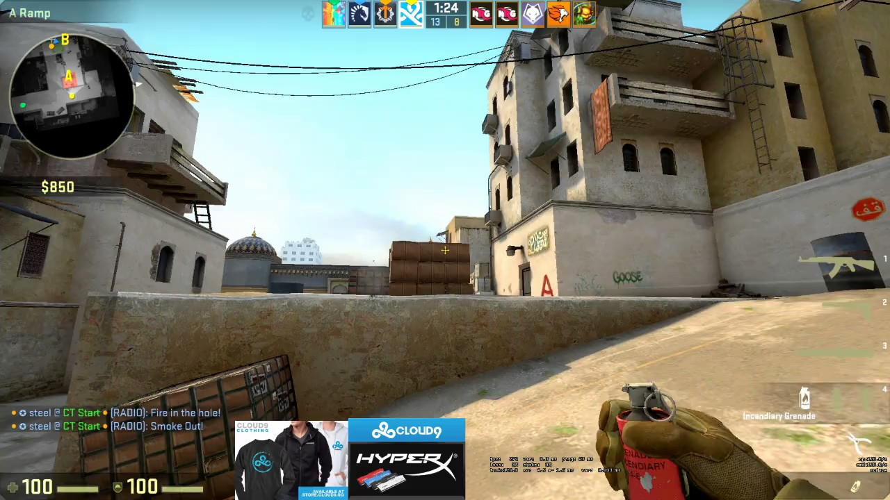 CS: GO Sick AK-47 Spray Control by Cloud9 swag on de_dust2