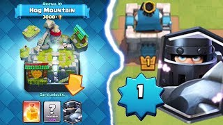 CAN A LEVEL 1 UNLOCK MEGA KNIGHT? | Clash Royale | Arena 10 Hog Mountain Push