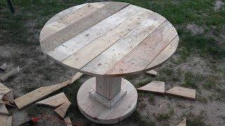 Как сделать круглый стол.