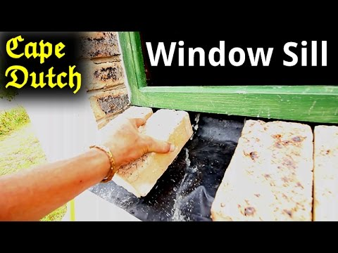 Cape Dutch Window ledge (sill) Build - WITH A DIFFERENCE
