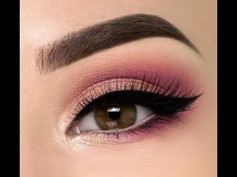 Easy pink eye makeup for summer,perfect eyeshadow for
