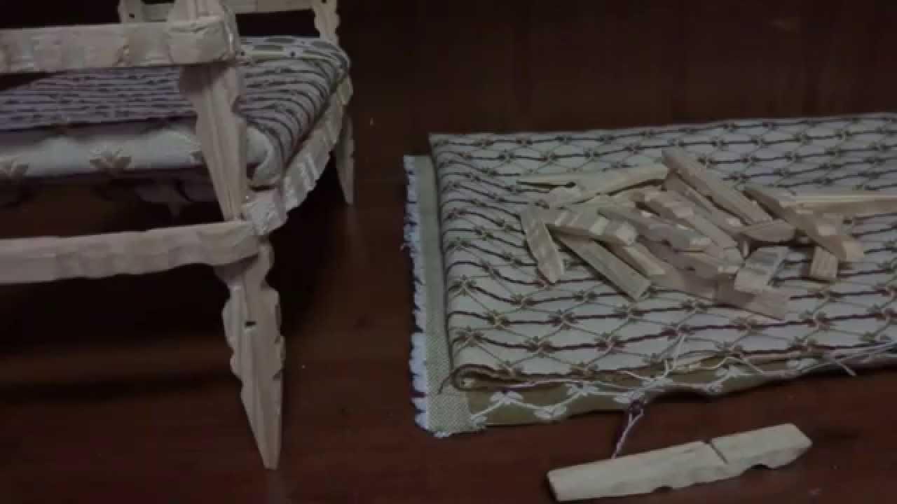 Como hacer una cama con pinzas de madera para tu mu eca for Como fabricar una cama de madera