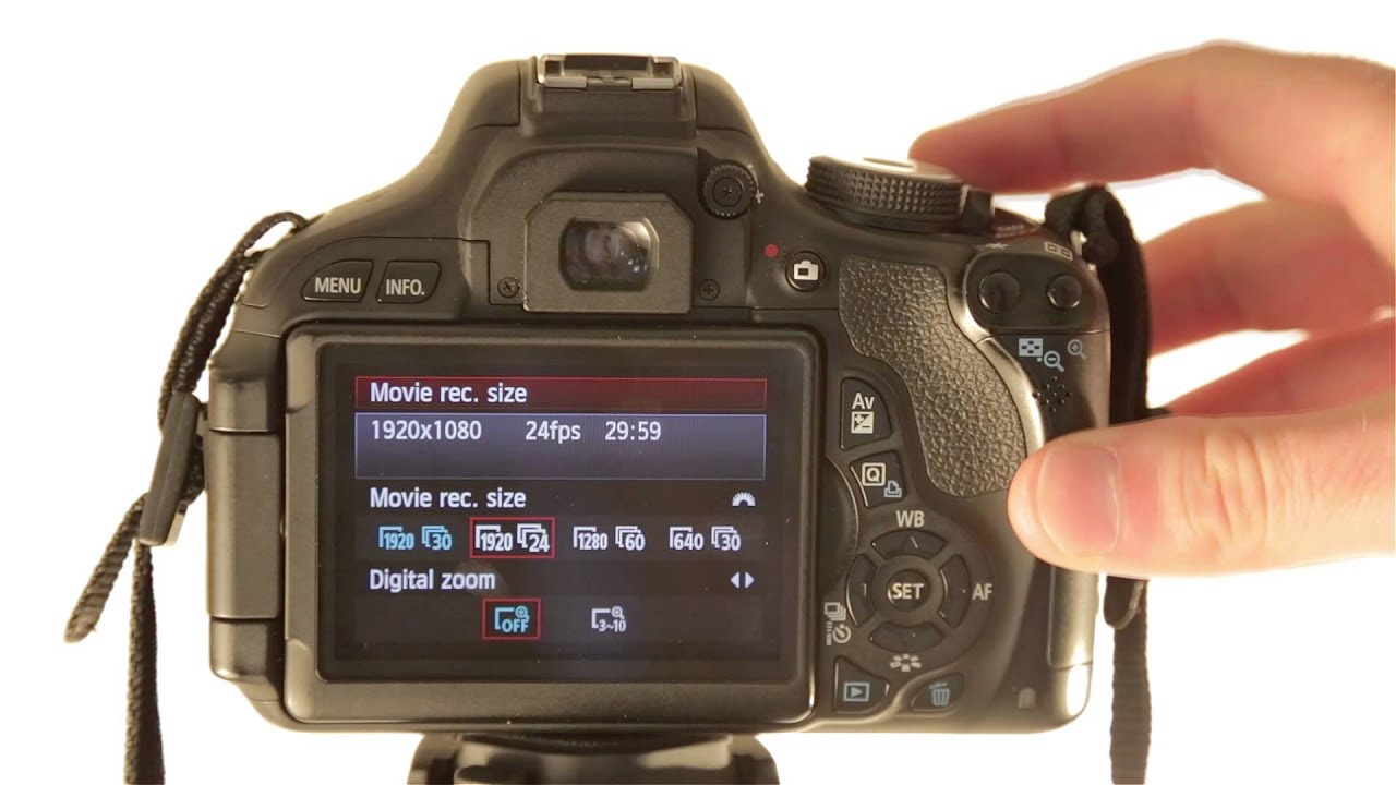 How to Change your Movie Recording Size on your Canon Rebel T3i / T4i / T5i