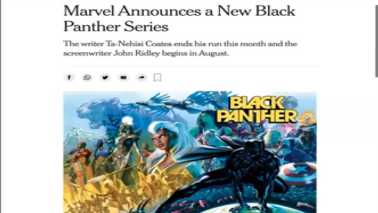 John Ridley is the new Black Panther Comic Writer
