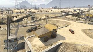 GTA 5 Online - Where To Find The Bulldozer & HVY Dump!