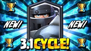 INSANE! 3.1 ELIXIR HYPER AGGRESSIVE MEGA KNIGHT CYCLE DECK!! - Clash Royale