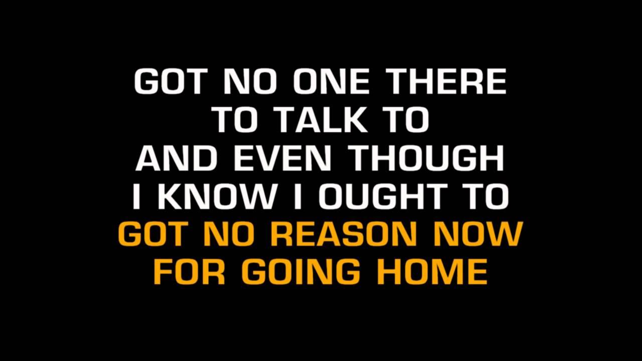 Gene Watson Got No Reason Now For Going Home Karaoke Youtube