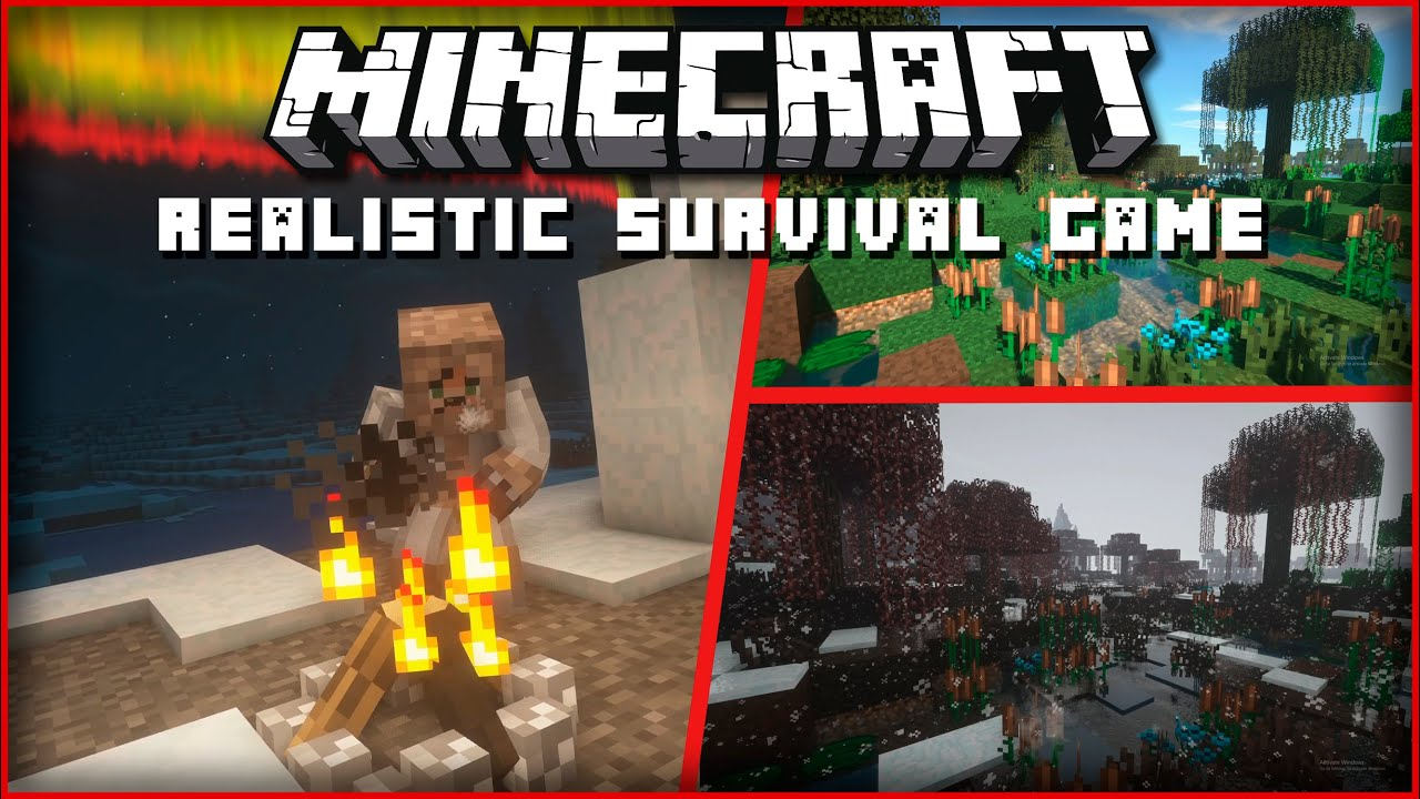 Mods that Transform Minecraft into a Realistic Survival Game